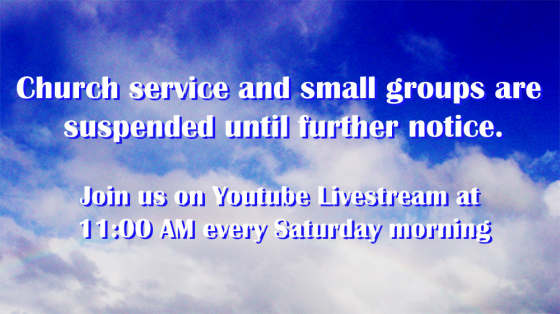 Until further notice we are  livestreaming the worship.
